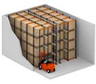 drive-in rack illustration