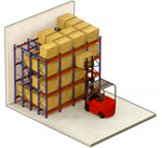pushback rack illustration