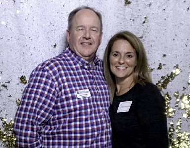 Kevin Harwell, Cisco-Eagle Employee-Owner of the Year and his wife