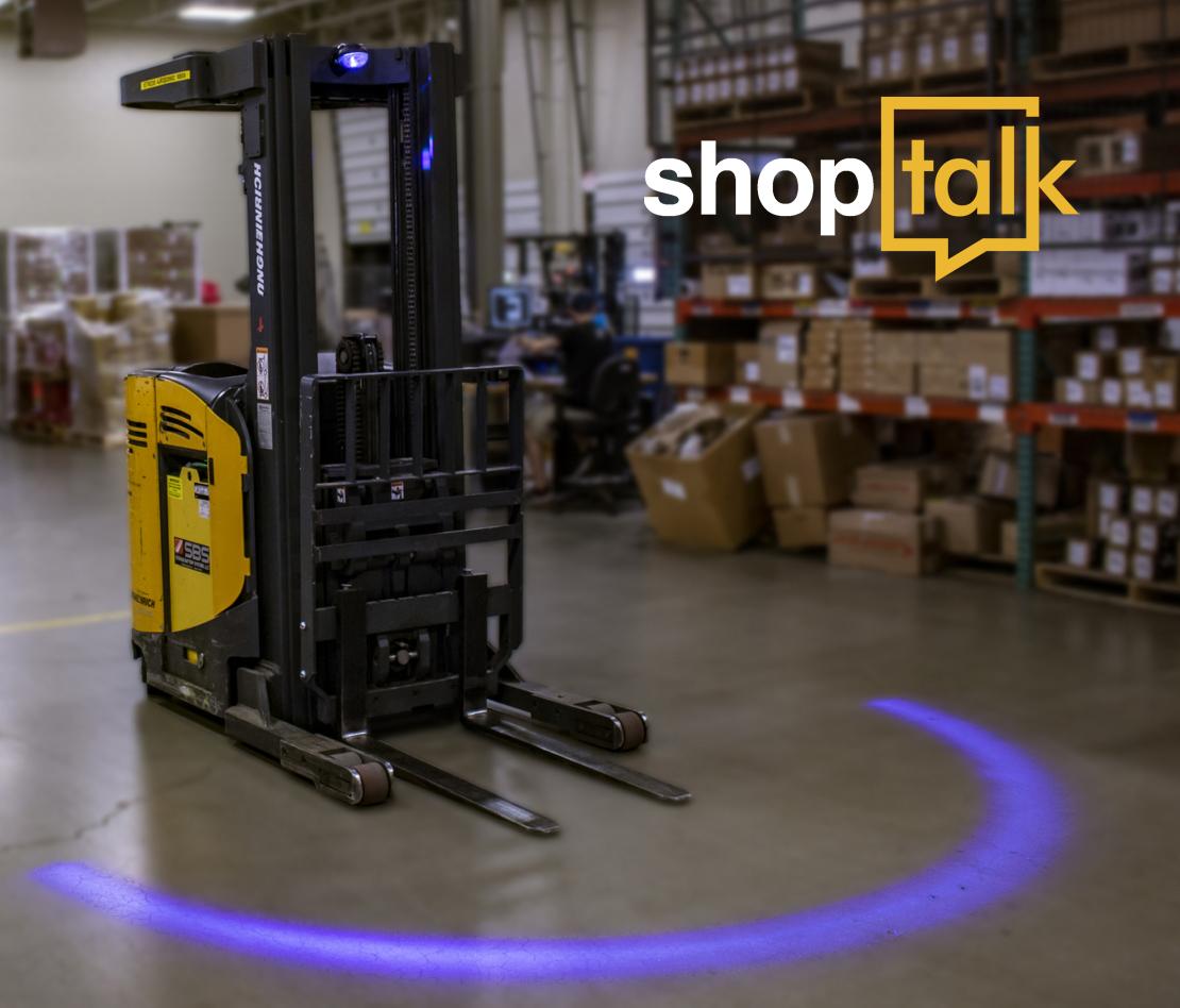 forklift LED arc safety light