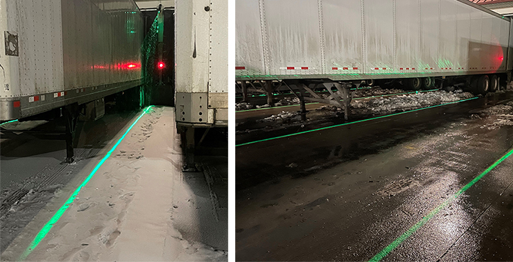 Laser light guides work in rain, snow and other inclement weather. They project atop debris or snow.