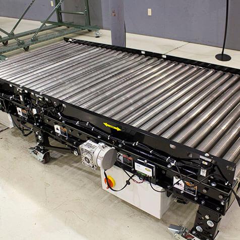 Poly-V style pallet conveyor