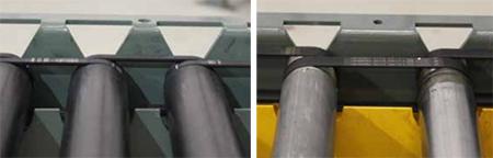Poly-V roller to roller belts.