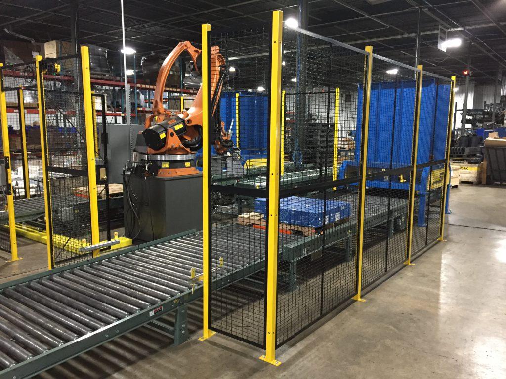 machine guarding wire partition