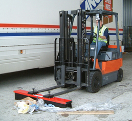forklift accessory sweeper attachment